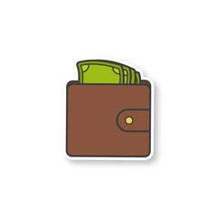 Wallet with money patch