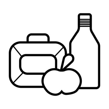 Lunchbox icon vector