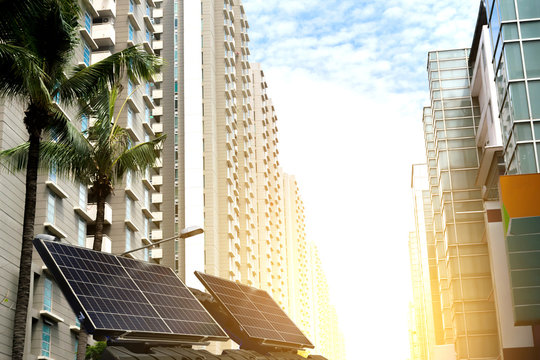 Solar power technology in the city future power