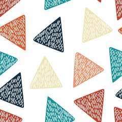 Colorful triangle abstract seamless pattern