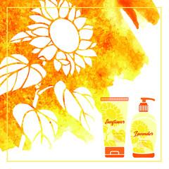 Shampoo hair set design vector illustration