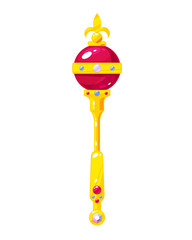 Beautiful royal scepter of gold. Award for the winner.