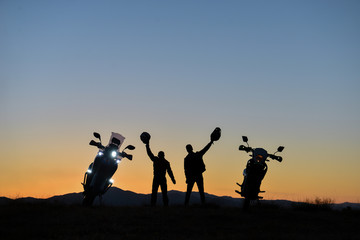 motorcycle travel, nice places and feeling of freedom