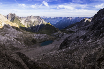 Bergpanorama am Morgen