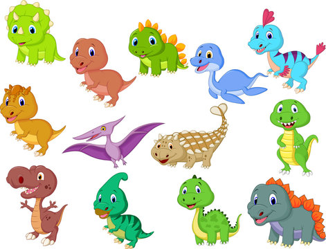 Cute baby dinosaurs collection