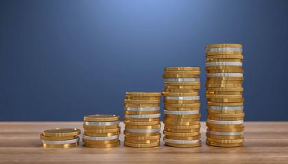 3D Geldmünzen Wachstum