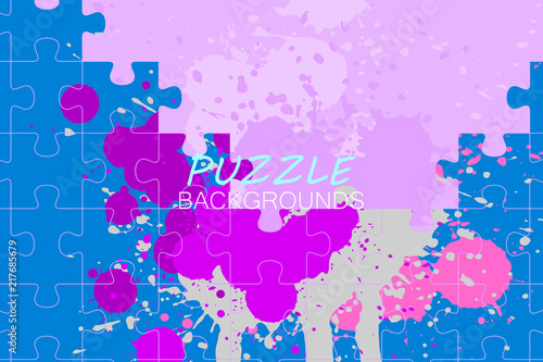 Abstract Puzzle Colors Concepts Vector Wallpaper Backgrounds