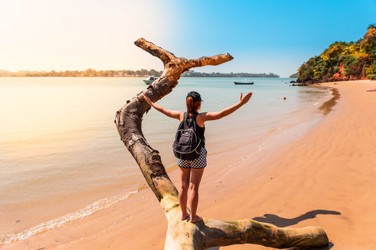 West Africa Guinea Bissau Bijagos island - sunset on a paradise beach