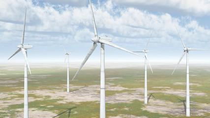 Windkraftanlagen in einer Landschaft
