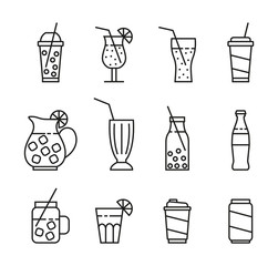 set of beverages icons