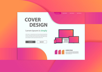 Web development website banner minimal geometric background, Vector illustration layout template design