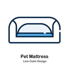 Pet Mattress Line Color Icon