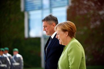German Chancellor Merkel welcomes Bosnia-Herzegovina's PM Zvizdic at the Chancellery in Berlin