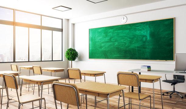 Modern classroom interior