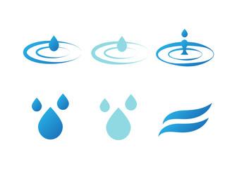 Water drops. Set of water drops, splash vector