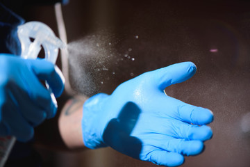 Tatto salon closeup