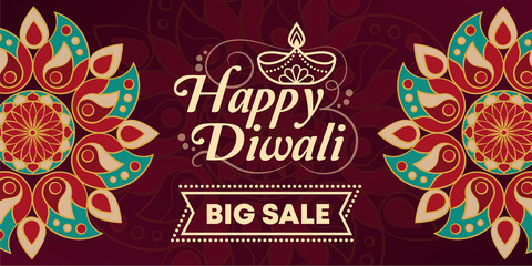 Happy Diwali promotional sale banner