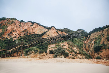 A staircase leading to the beach near the city of Lagos in Portugal.