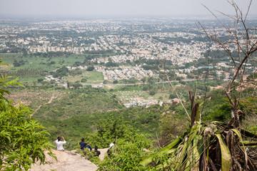 Blick auf Mysore vom Chamundi Hill