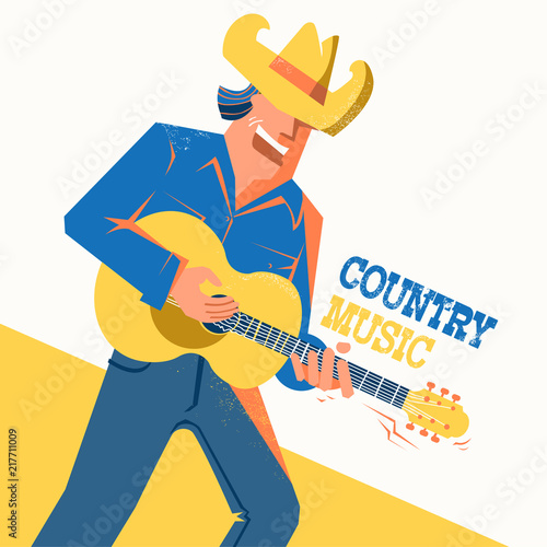 d677748387a04 Country music concert poster with singer man in cowboy hat