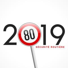 2019, panneau 80 km