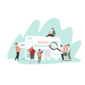 Small people and search engine result page