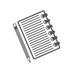 Vector notebook icon