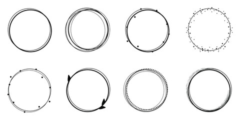 Set of circle frames, sticker
