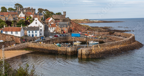 Crail Harbour on the east coast of Scotland