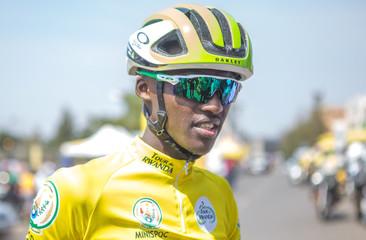 Samuel Mugisha of Team Rwanda is seen during the Tour du Rwanda 2018 in Kigali