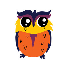 Cute cartoon owl icon