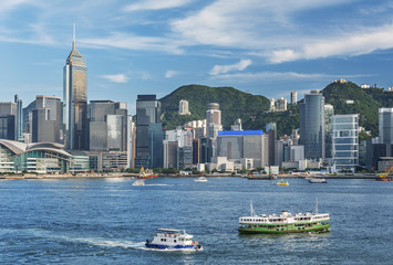 Victoria Harbor of Hong Kong city