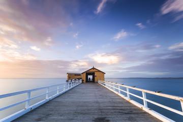Beautiful Sunrise At Queenscliff Pier, Victoria, Australia.