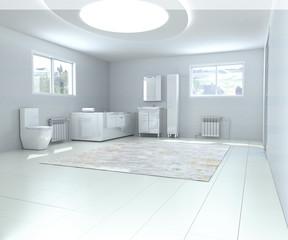 interior bathroom 3d render image