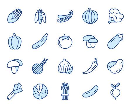 Gemüse Vector Icon Set