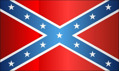 Grunge Confederate Flag - illustration, 