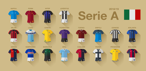Serie A Kit vector set