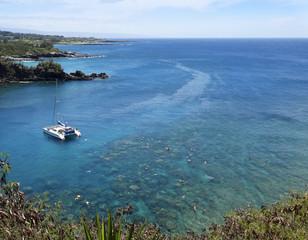 Keuken foto achterwand Oceanië A Reef Popular for Snorkeling, Honolua Bay, Maui, Hawaii