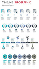 Vector abstract element infographics set timeline. Design for business, finance template layout, workflow, timeline, information, presentation and other. Abstract infographics 3D vector bundle.