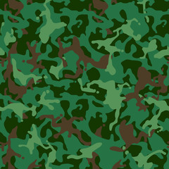 Seamless camouflage pattern. Military camouflage texture. Green, brown. forest, soldier, camouflage. Vector fabric textile print designs.