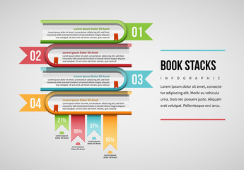 Stacked Books Infographic Layout