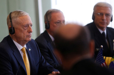 U.S. Secretary of Defence Mattis attends a meeting at the Itamaraty Palace in Brasilia