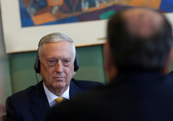 U.S. Secretary of Defence Mattis and Brazilian Foreign Minister Nunes attend a meeting at the Itamaraty Palace in Brasilia