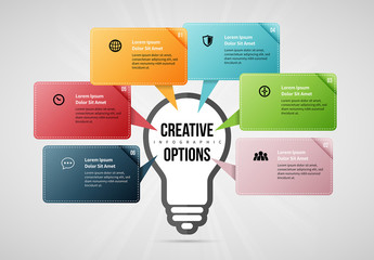 Creative Options Infographic Layout