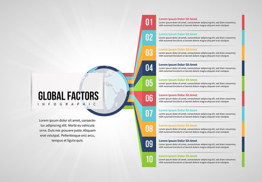 10 Step Global Factors Infographic Layout