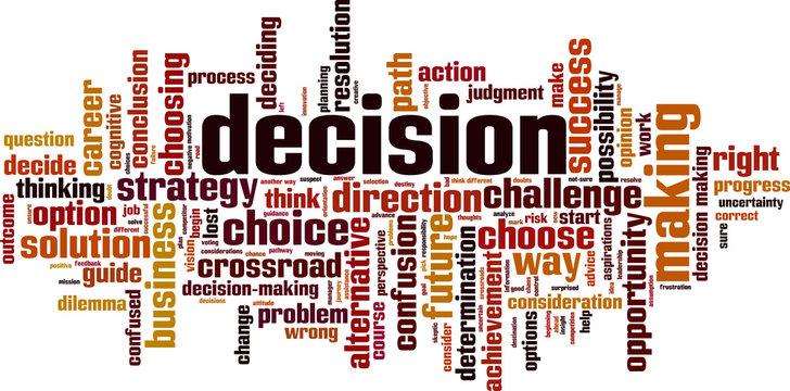 Decision word cloud