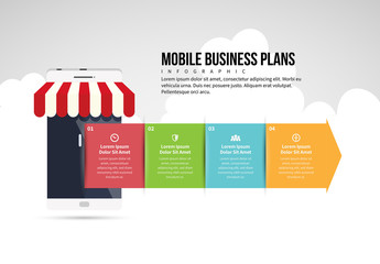 Mobile Business Plan Infographic Layout