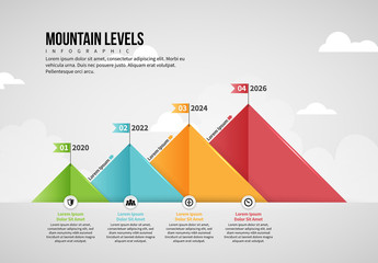Mountain Levels Infographic Layout