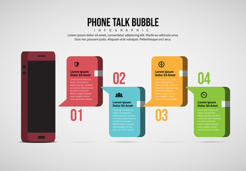 Phone Talk Bubble Infographic Layout