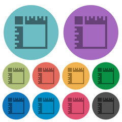 Canvas rulers color darker flat icons